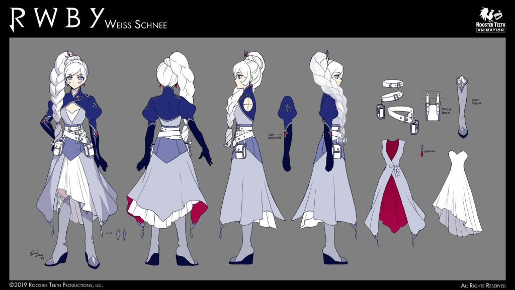 RWBY Volume 7 concept art for Weiss