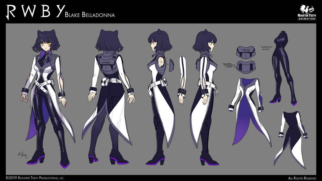 RWBY Volume 7 concept art for Blake