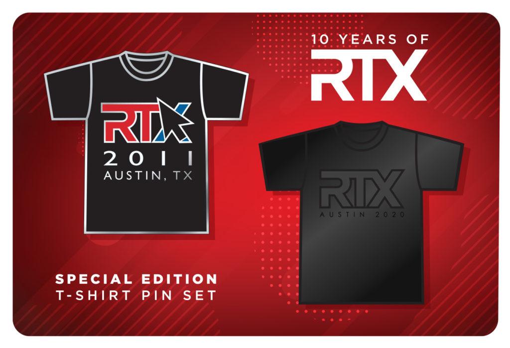 RTX Austin 2020 pins